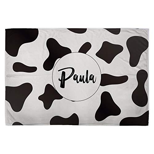 Lolapix Manta Suave Personalizada Nombre. Animal Print