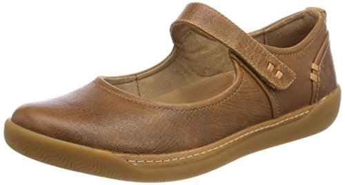 Clarks Damen Un Haven Strap Geschlossene Ballerinas, Schwarz (Dark Tan Lea), 39.5 EU (Jane Leder Mary Tan)