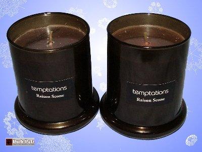 Lot de 2 bougies Temptations parfumées scone au