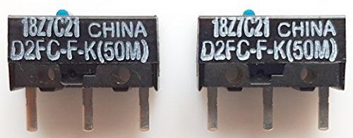Omron D2FC-F-K(50M) 2 Stück Mikroschalter Taster Schneller Versand aus Deutschland