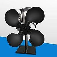 VIOY Alta Temperatura Protección Térmica del Medio Ambiente Ahorro de Energía Inteligente Calentador de Estufa Ventilador de Leña/Estufa de Leña/Chimenea,como se Muestra,Una Talla