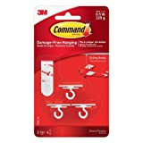 Command Oval Adhesive Single Hook Large Clear Ref 17093CLR 113501