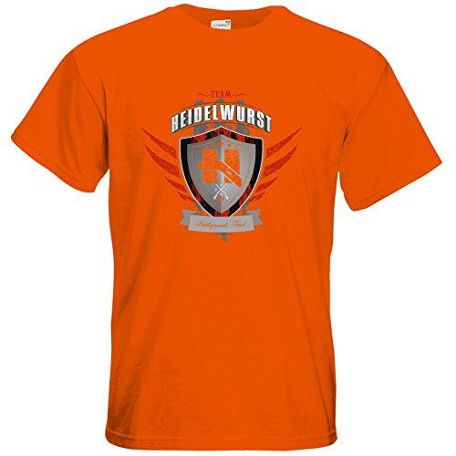 getshirts - Heidelwurst - T-Shirt - Team Heidelwurst Orange
