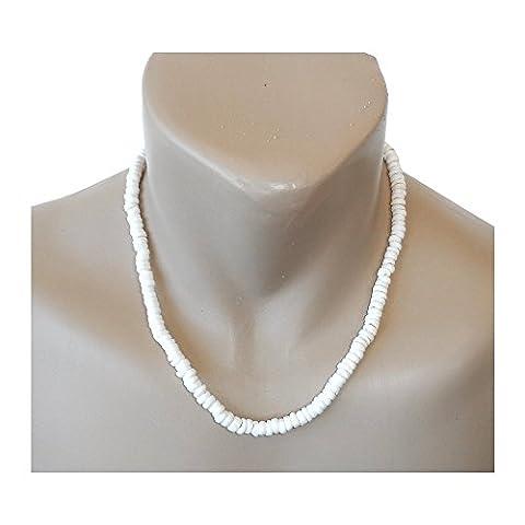 Hawaiian Jewelry Small Puka Shells 20 Necklace with Koa Wood Accents by Hawaiian Heirloom Jewelry