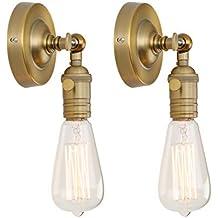 phansthy 2 unidades Vintage de la Industria Loft de lámparas de pared Iluminación de Pared apliques