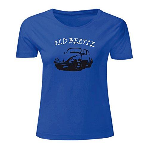 Art T-shirt, Maglietta Beetle, Donna Blu