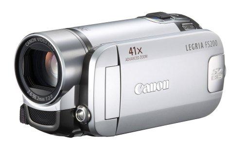 Canon LEGRIA FS200 SD-Camcorder (SDHC/SD/MMC-Card, 37-fach opt. Zoom, 6,9cm (2,7 Zoll) Display) titansilber Fs200 Flash Memory