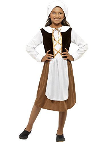 Mädchen Mittelalter Tudor Dienstmädchen Kleid (Mittelalter Kostüm Mädchen Kleid)