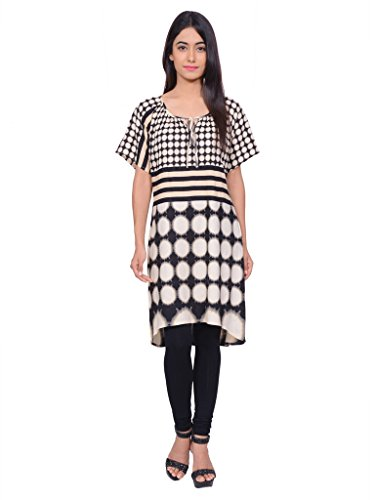 Juniper Women's A line Kurta (30497BLACK_Small)