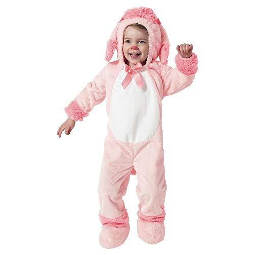 (Costumes Rosa Pudel Kinder Mädchen Fasching Halloween Karneval Kostüm Poodle Hund Dog (86-92))