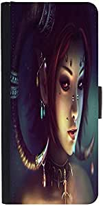 Snoogg Tribal Chicdesigner Protective Flip Case Cover For Samsung Galaxy Alpha
