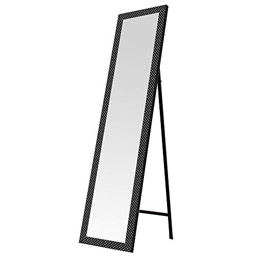Espejo de pie Moderno Negro de plástico para Dormitorio de 37 x 157 cm Factory - LOLAhome