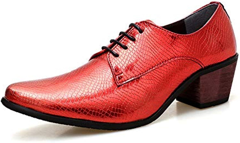 TAZAN TAZAN TAZAN Scarpe da Uomo in Pelle con Tacco Alto a Punta Tacco Alto Scarpe da Sposa Oxford Traspirante Antiscivolo... | Acquisto  27f177