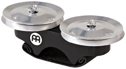 Meinl Percussion FJS1A-BK - Sonagli per dita, con cimbalini in alluminio, accessorio per cajon, colore: Nero