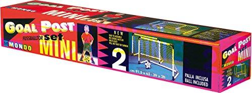 Mondo Set de 2 mini porterías para fútbol y balón (18014)