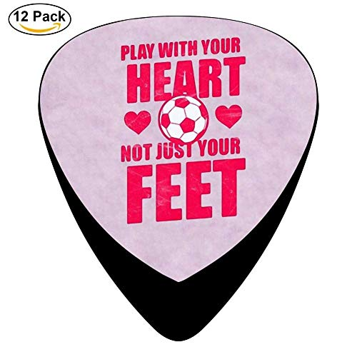 Play With Your Heart Not Just Your Feet Celluloid Guitar Picks 12 Pack For Electric Acoustic Guitar