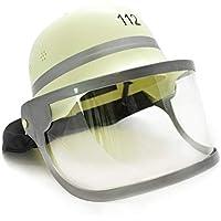 Idena 8040005-Kids Fireman Helmet with Folding Visor and Neck Cover
