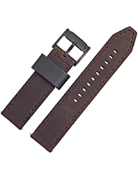Fossil Leather Watch Strap 22 MM BROWN Housing Number FS 4656 Replacement Band for Watch Model Machine 80706