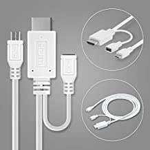 Cable MHL adaptador Micro-USB a HDMI, para Sony Xperia Z1 Z2 Z3 Z4 Z5 SP T V compact HTC One M8 X S Max XL Sensation Evo Butterfly Flyer Huawei Ascend LG G Optimus etc - 1,5m