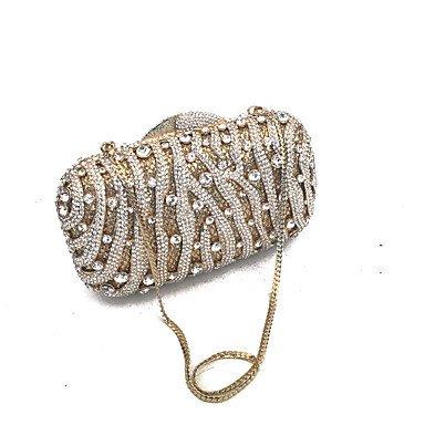 SUNNY KEY-Pochette e Clutch@Borse di cristallo frizione di sera femminile scolpite a mano fuori frizioni sera gold