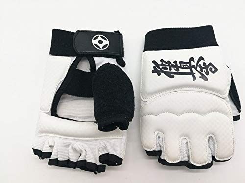 STQJKLM Karate Handschuhe Fighting Hand Protector Kampfsport Sport Pu Leder Fitness Boxhandschuhe L Lang 18.5Cm Weiß -
