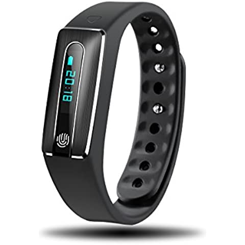 Rubility®Impermeabile NFC Bluetooth intelligente banda intelligente Bracciale Cuore Rate Monitor sport orologio da polso compatibile per il sistema Android e ISO