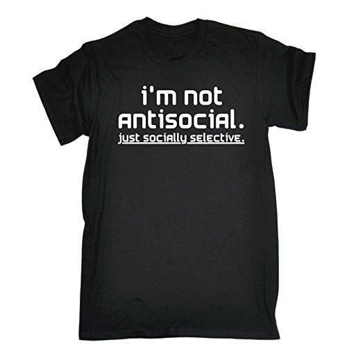 bb9efd33 funny t shirts I'm Not Antisocial Just Socially Selective Men's T-SHIRT - tshirt  t-shirts shirt tee From 123t Slogans