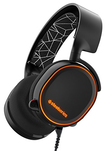 SteelSeries Arctis 5, Gaming Headset, DTS 7.1 Surround for PC, RGB Illumination, (PC / Mac / Playstation / Mobile / VR) – Black