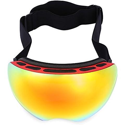 iGarden–Gafas de esquí, snowboard Gafas de nieve OTG con protección UV400lentes antiniebla esférica sin marco doble de tamaño extragrande, con ventilación y gafas de nieve,