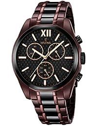 Festina hombre reloj de cuarzo con cronógrafo negro y dos tonos pulsera de acero inoxidable F16859/1