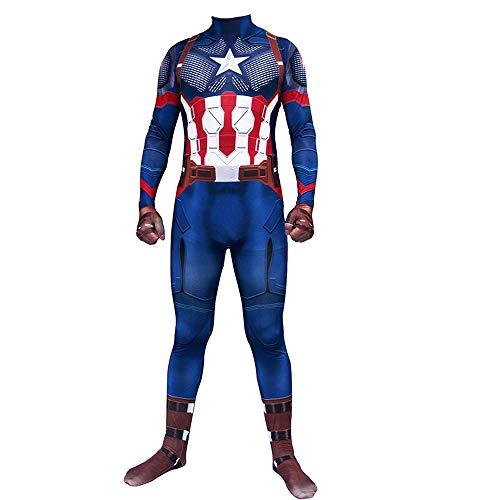 America Captain Kostüm Adult - Captain America Cosplay Kostüm Adult Avengers 4 Cosplay Strumpfhosen Kleidung Weihnachten Halloween Kostüm Für Erwachsene/Kinder Tragen Child-S