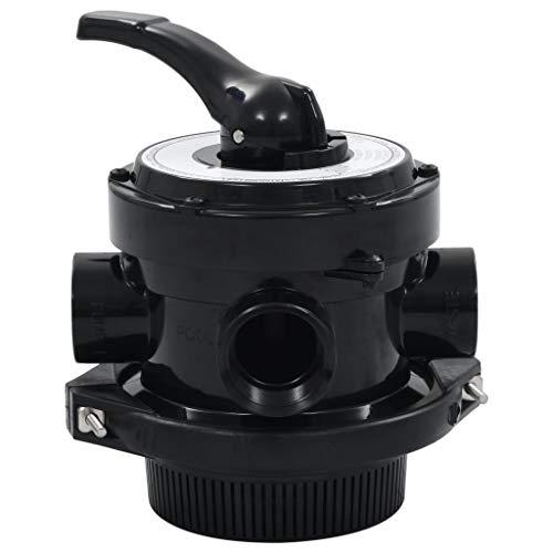 "Festnight- Mehrwegeventil ABS 1,5\"" 4-Wege, Ersatzteile Ventil für Sandfilter Poolfilterventil Poolfilter Filteranlage Filterkessel"