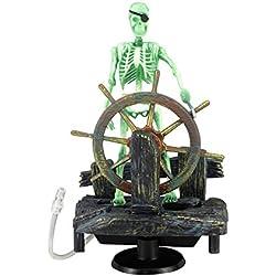 LANDUM Action-Aquarium - Figura Decorativa, diseño de Esqueleto Pirata