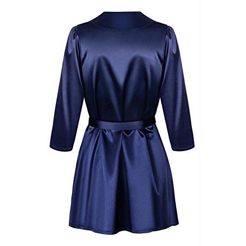 Obsessive Elegante Vestaglia Femminile Satinia Blu marino
