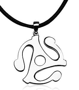 Survivants adaptateur de 45 tours Enregistrez collier pendentif en titane acier Collier Sucre