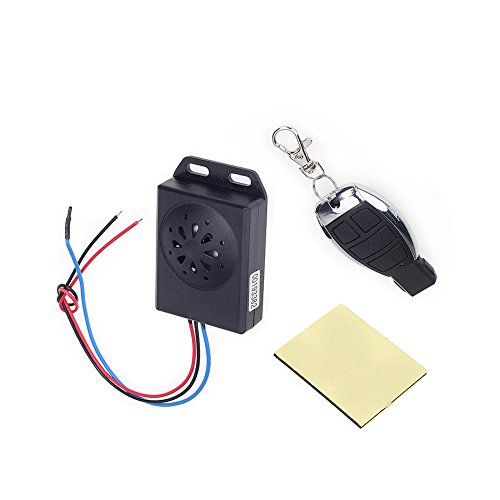 Shsyue®DC 12V Horn Dezibel: ≥125dB Universal Motorrad Alarm System Alarmanlage mit Fernbedienung