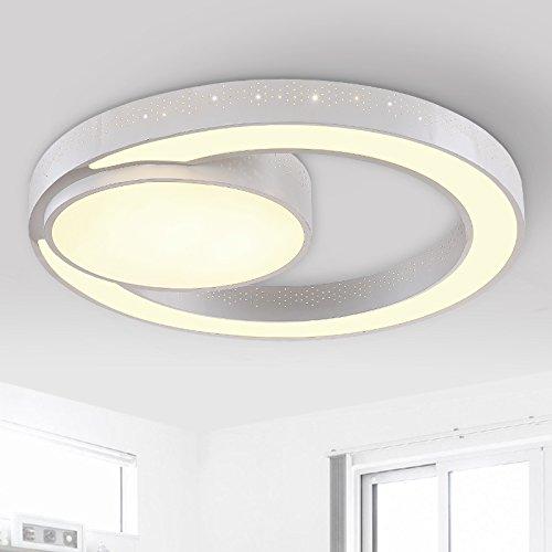 Moderno led luce luce lampadari pendenti soffitto lampada da soffitto luci illuminazione della stanza da letto atmosfera nessuna polarità di regolazione intensità luminosa luci ristorante, circolare 31cm 3 toni