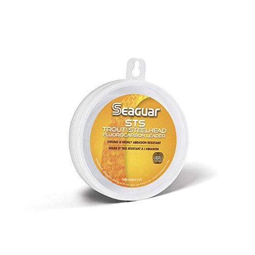 Seaguar STS Angelschnur Forelle/Steelhead Fluorocarbon Vorfachschnur, farblos, 4-Pound/100-Yard -
