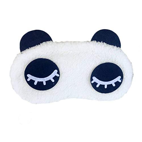 fgyhtyjuu Panda Schlafmasken Augenmaske eyeshade Eyepatch Velvet Panda Travel Sleeping Blindfold...