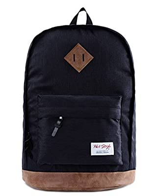 HotStyle 936 Plus Classical College School Backpack Rucksak Back Pack Bags Fits 15.6 inch Laptop