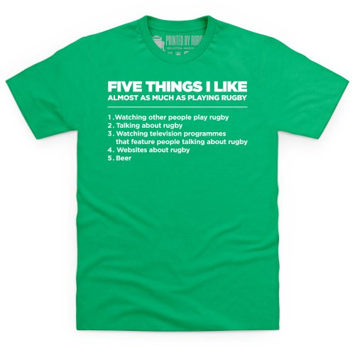 Five Things I Like - Rugby T-Shirt, Herren Keltisch-Grn