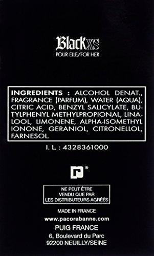 Paco Rabanne Black XS for her femme / woman, Eau de Toilette, Vaporisateur / Spray 30 ml, 1er Pack (1 x 30 ml) - 2