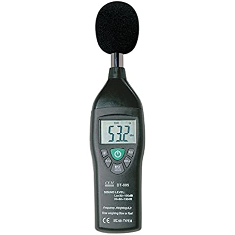 a-bf CEM DT-805Fonometro a & C Ponderazione in frequenza (Fonometro Ponderazione)