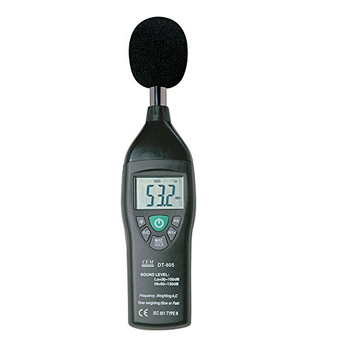 botterrun DT-805Fonometro a & C Ponderazione in frequenza (Fonometro Ponderazione)