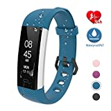 fitpolo Fitness Uhr Wasserdicht Fit Uhr mit Pulsmesser Aktivitäts-Tracker Fitness Armband, Schrittzähler Uhr,...