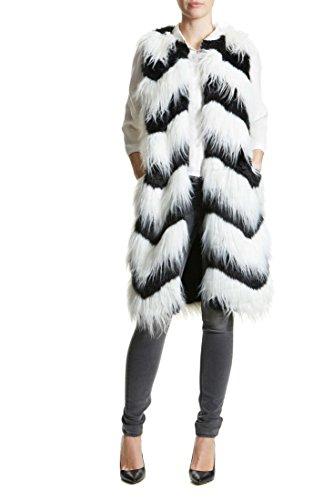 Imitation Fourrure Karen Black/White Glamorous Autre