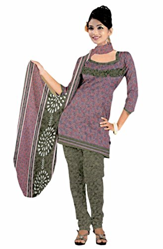 Araham Printed Multi color SoftCrepe/ American Crepe Dress Material/ Unstitched Salwar Suit