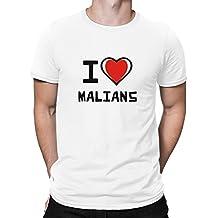 Teeburon I love Malians Camiseta