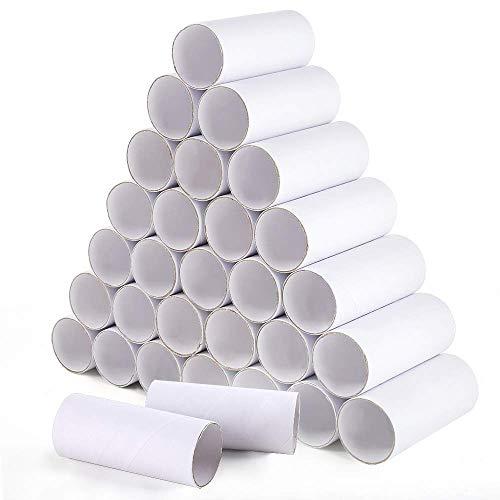 XiangZe 30er Pack Papprollen Bastelrollen für kreative Bastelprojekte, Craft Paper Rolls papprohr, Craft Malerei Rollen kreative Spaß DIY Pappröhren Weiß