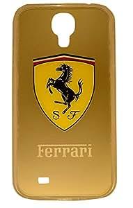 The Grand Store Samsung Galaxy S4 Golden Ferrari silicon Back Cover CS108